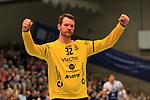 09.11.2019, Hansehalle Luebeck, GER,  2.Bundesliga Handball VfL Luebeck-Schwartau - TV Emsdetten<br /> <br /> im Bild / picture shows<br /> Torwart Dennis Klockmann VfL Luebeck-Schwartau jubelt.<br /> <br /> Foto © nordphoto / Tauchnitz