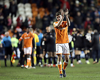 Blackpool's Ben Heneghan applauds the fans at the final whistle<br /> <br /> Photographer Rich Linley/CameraSport<br /> <br /> The EFL Sky Bet League One - Blackpool v Barnsley - Saturday 22nd December 2018 - Bloomfield Road - Blackpool<br /> <br /> World Copyright &copy; 2018 CameraSport. All rights reserved. 43 Linden Ave. Countesthorpe. Leicester. England. LE8 5PG - Tel: +44 (0) 116 277 4147 - admin@camerasport.com - www.camerasport.com