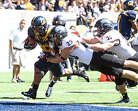 Isi Sofele of California scores a touchdown during the game against Southern Utah at Memorial Stadium in Berkeley, California on September 8th, 2012.   California Golden Bears defeated Southern Utah, 50-31.