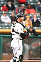 John Hester (22) of the Salt Lake Bees during the game against the Sacramento River Cats at Smith's Ballpark on April 3, 2014 in Salt Lake City, Utah.  (Stephen Smith/Four Seam Images)