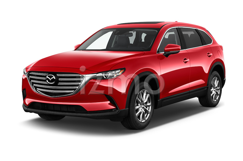 2018 Mazda CX-9 Touring-FWD 5 Door SUV Angular Front stock photos of front three quarter view