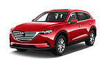 2016 Mazda CX-9 Touring-FWD 5 Door SUV Angular Front stock photos of front three quarter view