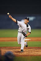 Tampa Yankees starting pitcher Chance Adams (20) during a game against the Dunedin Blue Jays on April 19, 2016 at George M. Steinbrenner Field in Tampa, Florida.  Tampa defeated Dunedin 12-7.  (Mike Janes/Four Seam Images)
