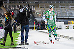 Stockholm 2014-01-10 Bandy Elitserien Hammarby IF - Sandvikens AIK :  <br />  Hammarbys Adam Gilljam deppar efter matchen <br /> (Foto: Kenta J&ouml;nsson) Nyckelord:  depp besviken besvikelse sorg ledsen deppig nedst&auml;md uppgiven sad disappointment disappointed dejected