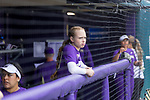 The University of Washington softball team defeats Minnesota 5-2 to win the NCAA regional on May 20, 2018.. (Photography by Scott Eklund/Red Box Pictures)