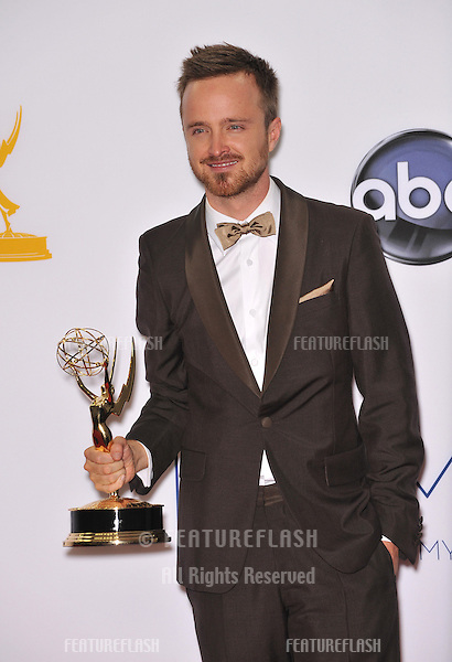 Aaron Paul at the 64th Primetime Emmy Awards at the Nokia Theatre LA Live..September 23, 2012  Los Angeles, CA.Picture: Paul Smith / Featureflash