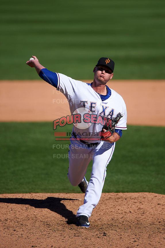 Surprise Saguaros pitcher Connor Sadzeck (55) delivers a pitch during an Arizona Fall League game against the Glendale Desert Dogs on October 23, 2015 at Salt River Fields at Talking Stick in Scottsdale, Arizona.  Glendale defeated Surprise 9-6.  (Mike Janes/Four Seam Images)