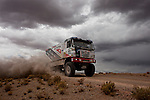 Truck racer Martin Colomy from Czech Republic driving his Tatra truck during the 5th stage of the Dakar Rally 2016 in the Bolivian Altiplano.