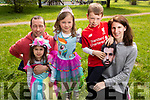 Brian, Emma, Rhia, Conor and Mary Ellen Kiely from Camp at the Family Fancy Dress Charity Fun Run in aid of Down Syndrome Ireland in the Tralee Town park on Saturday.