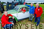 Mike Baker seated in the vintage VW with Brian McKenna (kneeling) and Joe Hennebry of the Kerry Hospice and Donal McGrath (President Abbeydorney Vintage Society) as the society  launch the Abbeydorney Vintage Tractor and Car Run in aid of the Kerry Hospice Palliative Care in Abbeydorney on Friday evening.