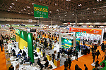 Visitors gather at the 42nd International Food and Beverage Exhibition (FOODEX JAPAN 2017) in Makuhari Messe International Convention Complex on March 8, 2017, Chiba, Japan. About 3,282 companies from 77 nations are participating in the Asia's largest food and beverage trade show. This year organizers expect 77,000 visitors for the four-day event, which runs until March 10. (Photo by Rodrigo Reyes Marin/AFLO)