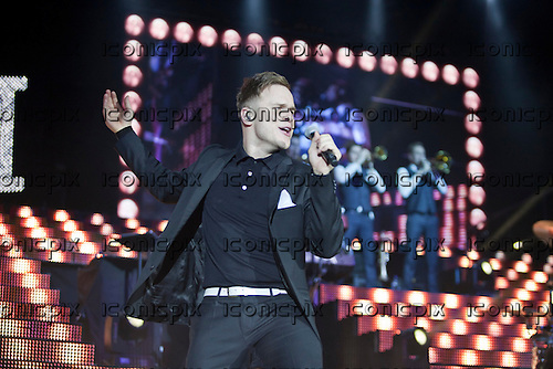 Olly Murs - performing live at the  Motorpoint Arena in Cardiff Wales UK -  25 Mar 2013.   Photo credit: Daniel Mackie/Music Pics Ltd/IconicPix