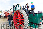 James Conway, Claire Conway and Jack O'Hehir Tralee operating their Steam Traction engine at the Castlemaine harvest and vintage show on Sunday