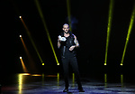 """Darcy Oake, """"The Grand Illusionist"""" from the cast of Broadway's """"The Illusionists—Magic of the Holidays"""" on stage for a press preview at the Marquis Theatre  on November 27, 2018 in New York City."""