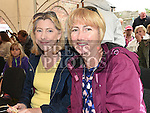 Susan McCullen and Fiona McDonald pictured at the 'Battle of Julianstown' play at Sonairte in Laytown. Photo:Colin Bell/pressphotos.ie