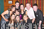 MIDNIGHT: Counting down to midnight at the New Year's Eve party in the White Sands Hotel, Ballyheigue, were front l-r: Mary McCarthy, Linda and Michelle Nolan. Back l-r: Aine McCarthy, Amanda Harrington, Brendan Duggan, Louise Gaynor, Mike Duggan and Tommy Browne.   Copyright Kerry's Eye 2008