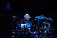Graham Broad setup his drum kit at IndigO2 London
