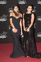 Julia Sidi Ayman Miss Cote d'Azur 2017 et Kleofina Pnishi Miss Provence 2017 arrivent sur le Tapis Rouge / Red Carpet avant la Ceremonie des 19 EME NRJ MUSIC AWARDS 2017, Palais des Festivals et des Congres, Cannes Sud de la France, samedi 4 novembre 2017.