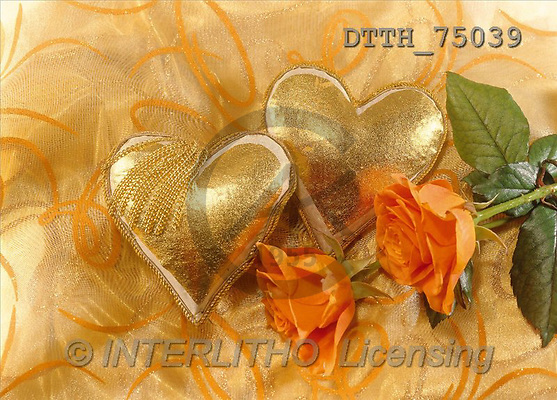 Helga, WEDDING, photos, roses, 2 hearts(DTTH75039,#W#) Hochzeit, boda