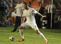 07.08.2013.Miami, Florida, USA.  Cristiano Karim Benzema (9)  during the second half of the  the final of the Guinness International Champions Cup between Real madrid and Chelsea. The game was won by a score of 3-1 by Real Madrid with Ronaldo scoring a brace.