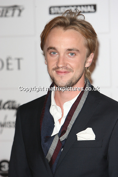 NON EXCLUSIVE PICTURE: MATRIXPICTURES.CO.UK.PLEASE CREDIT ALL USES..WORLD RIGHTS..English actor Tom Felton attending the 15th Moet British Independent Film Awards, at London's Old Billingsgate Market...DECEMBER 9th 2012..REF: GBH 125851