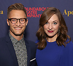 """Nate Johnson and Laura Osnes attends the Broadway Opening Night Celebration for the Roundabout Theatre Company production of """"Apologia"""" on October 16, 2018 at the Laura Pels Theatre in New York City."""