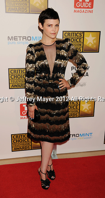 BEVERLY HILLS, CA - JUNE 18: Ginnifer Goodwin  arrives at The Critics' Choice Television Awards at The Beverly Hilton Hotel on June 18, 2012 in Beverly Hills, California.