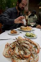 Lunch at Federico Rigoletti's restaurant Puntarena 29-08-07