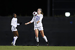 DURHAM, NC - NOVEMBER 11: Duke's Malinda Allen. The Duke University Blue Devils hosted the UNCG Spartans on November 11, 2017 at Koskinen Stadium in Durham, NC in an NCAA Division I Women's Soccer Tournament First Round game. Duke won the game 1-0.
