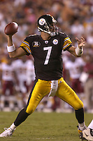 18 August 2007:  Steelers QB Ben Roethlisberger (7).  The Pittsburgh Steelers defeated the Washington Redskins 12-10 in their preseason game at FedEx Field in Landover, MD.