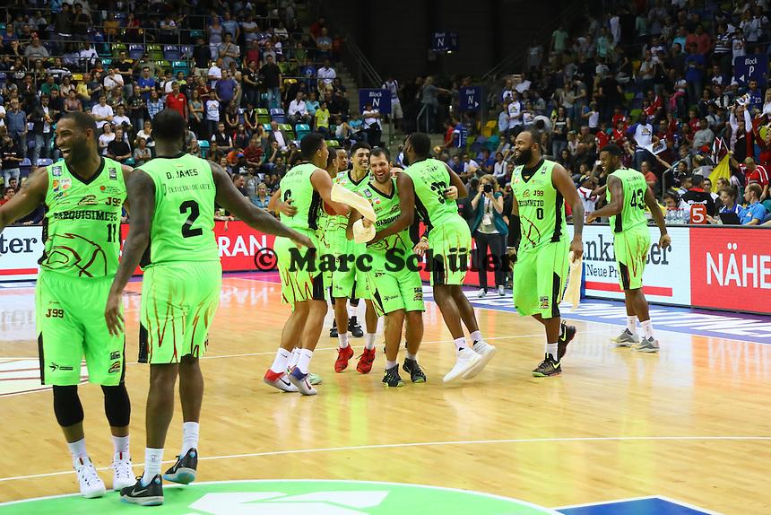 Siegesjubel Guaros de Lara - Fraport Skyliners vs. Guaros de Lara, Fraport Arena Frankfurt, FIBA Intercontinental Cup 2016