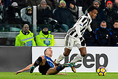 9th December 2017, Allianz Stadium, Turin, Italy; Serie A football, Juventus versus Inter Milan; Ivan Perisic fouls Juan Cuadrado