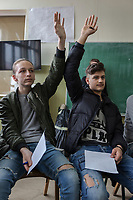 Serbia. Bujanovac or Bujanoc (Albanian: Bujanoci) is a town and municipality located in the Pčinja District of southern Serbia. « Sezai Surroi» Secondary School. Classroom. Both students are from Albanian ethnicity. The Pestalozzi Children's Foundation supports intercultural workshops whose goals are promoting direct contacts Serbian and Albanian students in order to break the nonexistent relationships between both communities (due to recent history and conflicts). Bujanovac is located in the geographical area known as Preševo Valley. The Pestalozzi Children's Foundation (Stiftung Kinderdorf Pestalozzi) is advocating access to high quality education for underprivileged children. It supports in Bujanovac a project called » Our towns, our schools ». 16.4.2018 © 2018 Didier Ruef for the Pestalozzi Children's Foundation