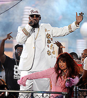LAS VEGAS, NV - NOVEMBER 6: R. Kelly performs on the 2015 Soul Train Awards at the Orleans Areana on NOVEMBER 6, 2015 in Las Vegas, Nevada. Credit: PGFM/MediPunch