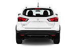 Straight rear view of 2017 Nissan Rogue Sport S 5 Door SUV stock images