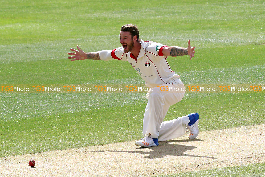 Jordan Clark of Lancashire with an appeal for the wicket during Essex CCC vs Lancashire CCC, Specsavers County Championship Division 1 Cricket at The Cloudfm County Ground on 10th April 2017