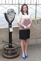 APR 05 Italia Ricci Visits Iconic Empire State Building