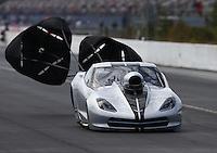 Mar 14, 2015; Gainesville, FL, USA; NHRA pro mod driver Robert Rahaim during qualifying for the Gatornationals at Auto Plus Raceway at Gainesville. Mandatory Credit: Mark J. Rebilas-