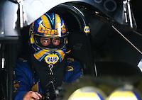 Apr 24, 2015; Baytown, TX, USA; NHRA funny car driver Ron Capps during qualifying for the Spring Nationals at Royal Purple Raceway. Mandatory Credit: Mark J. Rebilas-