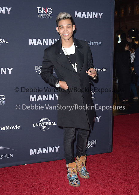 Roshon Fegan attends The Los Angeles premiere of<br /> MANNY at The TCL Chinese Theater  in Hollywood, California on January 20,2015                                                                               © 2015 Hollywood Press Agency