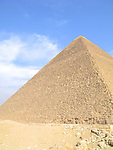 The Great Pyramid at Giza near Cairo, Egypt.