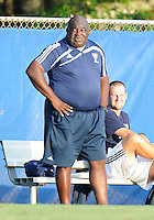 Florida International University men's soccer Head Coach Munga Eketebi during the game against Florida Atlantic University on August 28, 2011 at Miami, Florida.  The game ended in a 1-1 overtime tie. .