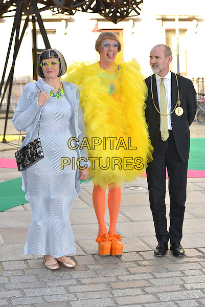 Philippa Perry, Grayson Perry and Christopher Le Brun<br /> Royal Academy Summer Preview Party arrivals, London, England 3rd June 2015<br /> CAP/PL<br /> &copy;Phil Loftus/Capital Pictures