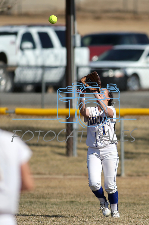 Western Nevada College's Alexia Alley makes a play in left field in a college softball game against Colorado Northwestern Community College in Carson City, Nev., on Friday, Feb. 22, 2013. .Photo by Cathleen Allison