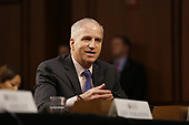 """Director Robert Cardillo, National Geospatial-Intelligence Agency (NGA) testifies before the United States Senate Select Committee on Intelligence during an open hearing on """"Worldwide Threats"""" on Capitol Hill in Washington, DC on Tuesday, January 29, 2019.<br /> Credit: Martin H. Simon / CNP"""