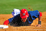 3 March 2009: Washington Nationals' shortstop Ian Desmond dives safely back to first during a Spring Training exhibition game against Italy at Space Coast Stadium in Viera, Florida. The Nationals defeated Italy 9-6. Mandatory Photo Credit: Ed Wolfstein Photo