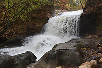 NWA Democrat-Gazette/FLIP PUTTHOFF <br /> The Tanyard Creek waterfall in Bella Vista, seen here on Oct. 29 2019, is easy to reach by hiking the Tanyard Creek Nature Trail. The trail and parking area are on Lancashire Drive one mile west of U.S. 71.