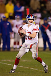 New York Giants quarterback Eli Manning (10) throws a pass during an NFC Championship NFL football game against the San Francisco 49ers on January 22, 2012 in San Francisco, California. The Giants won 20-17 in overtime. (AP Photo/David Stluka)