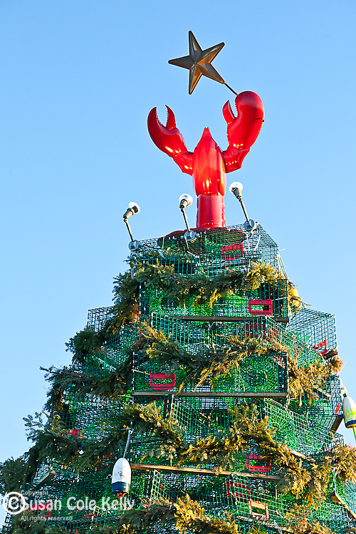 Lobster-trap Christmas tree in Rockland, ME, USA
