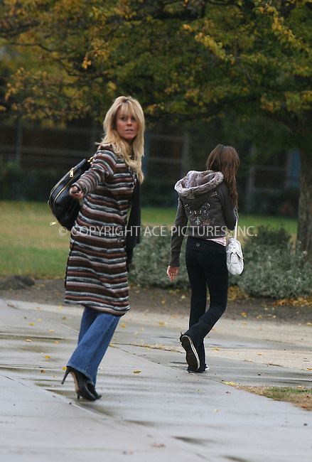 WWW.ACEPIXS.COM . . . . . ....November 20 2007, New York City....***EXCLUSIVE TO ACE PICTURES - PLEASE PHONE BEFORE USAGE***....Lindsay Lohan's mother Dina Lohan took daughter Ali to school in their Long Island neighborhood, before paying a visit to the bank and Dunkin Donuts. At Dunkin Donuts the ever gracious and delightful Dina bought two cups of coffee for our photographers!....Please byline:PHILIP VAUGHAN - ACEPIXS.COM.. . . . . . ..Ace Pictures, Inc:  ..(646) 769 0430..e-mail: info@acepixs.com..web: http://www.acepixs.com